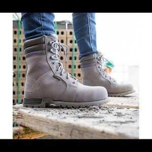Caterpillar purple steel toe boots